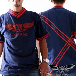 リッチヤング S/S Vネック Tシャツ RY-F10-53 ピーコート(ネイビー) RICH YUNG SS V neck T-shirt RY-F10-53 Peacoat|cio