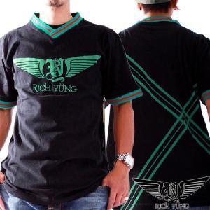 リッチヤング S/S Vネック Tシャツ RY-F10-53 ブラック RICH YUNG SS V neck T-shirt RY-F10-53 Black|cio