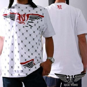 【SALE】リッチヤング S/S Tシャツ RY-F10-51 ホワイト ブラック RICH YUNG SS T-shirt RY-F10-51 White Black|cio