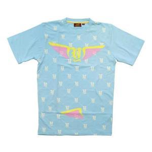 【SALE】リッチヤング モノグラム S/S Tシャツ ライトブルー RICH YUNG RY SP08-51 MONOGRAM S/S TEE LightBlue|cio