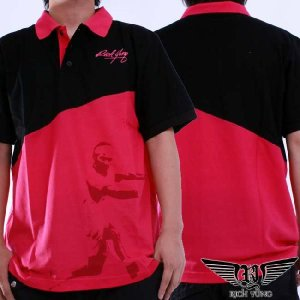 【SALE】リッチ ヤング S/S ポロシャツ ブラック ピンク RICH YUNG S/S Polo shirt Black Pink RY-SU10-09 cio
