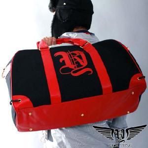 リッチヤング 09RY-LDB01 ボストン バッグ ブラック レッド RICH YUNG 09RY-LDB01 BOSTON BAG  Black Red|cio