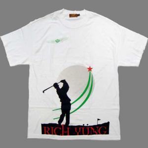 RICH YUNG GOLF MAN S/S TEE White リッチヤング ゴルフマン S/S Tシャツ ホワイト|cio