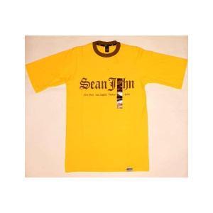 【SALE】SEAN JOHN S/S TEE Yellow/Brown ショーンジョン S/S Tシャツ イエロー/ブラウン cio