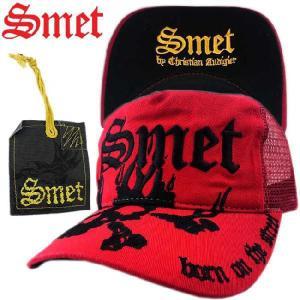 スメット ハット(キャップ) ベーシック スカル フレーム レッド SMET Hat(Cap) Basic SKULL FLAME Red|cio