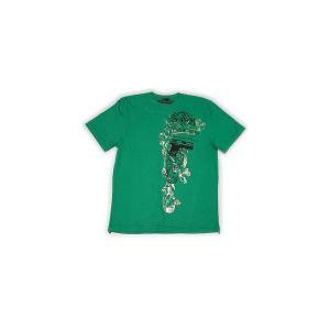 【SALE】STACKS & BUNDLES WREATH & PEACE S/S TEE GREEN スタックス アンド バンダレス ワース アンド ピース S/S Tシャツ グリーン cio