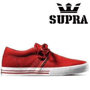 スープラ キューバン 1.5 レッド キャンバス レッド SUPRA CUBAN 1.5 RED CANVAS Red|cio