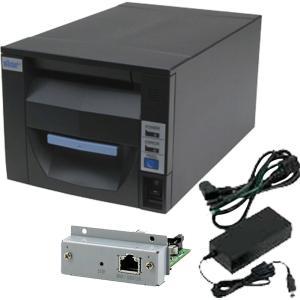 スター精密 据え置き型感熱式プリンター FVP10シリーズ FVP10U-24J1 GRY JP セット(ACアダプター、インターフェースカード付き) Star Micronics Printer Set|cio
