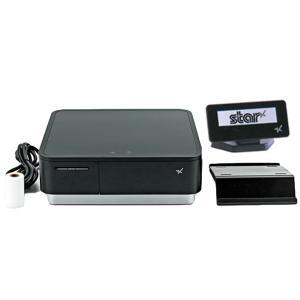 スター精密 キャッシュドロア一体型感熱式プリンター mPOP 旧 POP10-OF BLK JP 新 POP10 BLK JP セット(カスタマーディスプレイ付き) USB Bluetooth DK MFi|cio