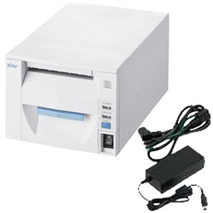 スター精密 据え置き型感熱式プリンター FVP10シリーズ FVP10UE3-24J1 JP FVP10UE3-24J1-JP-PS-WHT セット(ACアダプター) Ethernet ホワイト Star Micronics|cio