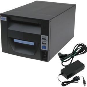スター精密 据え置き型感熱式プリンター FVP10シリーズ FVP10UE3-24J1 GRY JP FVP10UE3-24J1-JP-PS-GRY セット(ACアダプター) Ethernet グレー Star Micronics|cio