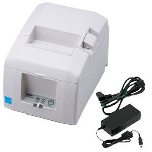 スター精密 据え置き型感熱式プリンター TSP650II TSP654IIBI2-24OF JP2 セット(ACアダプター)  Bluetooth MFi ホワイト Star Micronics|cio