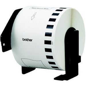 ブラザー 感熱式ラベルテープ 長尺紙テープ 赤黒2色発色 DKテープ DK-2251 ホワイト 幅62mm 15.24m巻 24巻セット Brother Thermal Label Tape DK-2251 White|cio