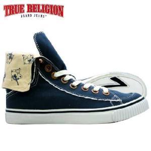 トゥルーレリジョン HANABEL T キャンバス ネイビー ネイビー TRUE RELIGION  HANABEL T CANVAS Navy Navy|cio