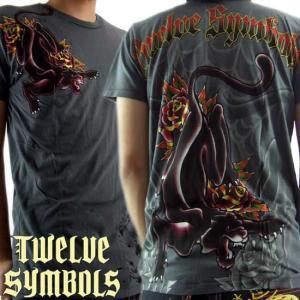 トゥエルブ シンボルズ S/S Tシャツ タトゥー パンサー グラファイト Twelve Symbols S/S TEE M378TAPX TATTOO PANTHER Graphite|cio