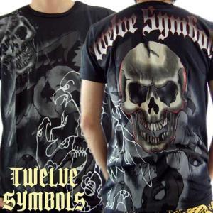 トゥエルブ シンボルズ S/S Tシャツ スカル レネゲード ブラック Twelve Symbols S/S TEE M378SREX SKULL RENEGADE Black|cio