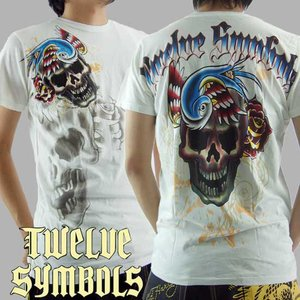 トゥエルブ シンボルズ S/S Tシャツ タンティライザー ホワイト Twelve Symbols S/S TEE M378TANX TANTILIZER White|cio