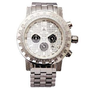 ジェイピーエム クロノグラフ ダイヤモンド ウォッチ シルバー JPM Chronograph Diamond Watch|cio