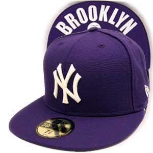 ニューエラ キャップ アンダーバイザー ニューヨークヤンキース ブルックリン パープル/ホワイト New Era Cap UNDER VISOR NY Yankees BROOKLYN|cio