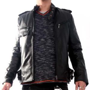 ヴィル ディスポワール レザー ジャケット シングル 11804 Ville D'Espoir Leather jacket Single 11804  Black|cio