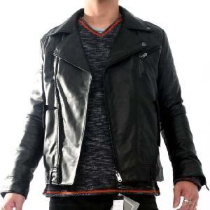 ヴィル ディスポワール レザー ジャケット ダブル 11803 Ville D'Espoir Leather jacket Double Black|cio