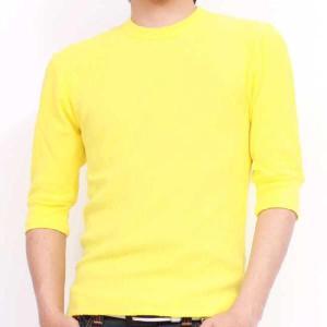 ジーコック ウエスト サーマル ハーフスリーブ Tシャツ イエロー Zi-co'ck west THERMAL HALF SLEEVE TEE Yellow|cio