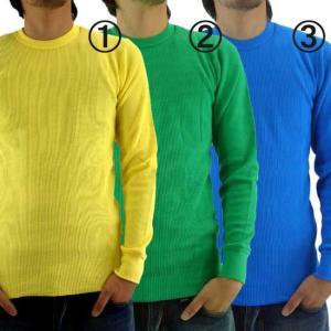 【再入荷】ジーコック ウエスト サーマル L/S Tシャツ 1.イエロー 2.ケリー 3.アクア Zi-co'ck west THERMAL L/S T-SHIRTS|cio