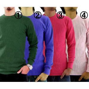 【再入荷】ジーコック ウエスト サーマル L/S Tシャツ 1.カーキ 2.パープル 3.サングリア 4.ピンク Zi-co'ck west THERMAL L/S T-SHIRTS|cio