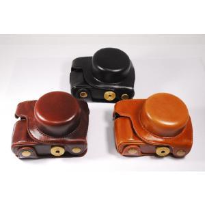 パナソニック LUMIX GF10 GF90 専用の高級合皮レザーカメラケースです。ボディーとレンズ...