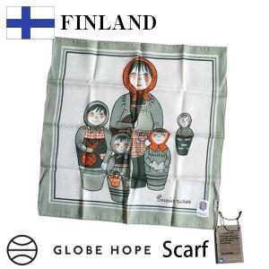 グローブホープ GLOBE HOPE マトリョーシカ スカーフ NOVOSIBIRSK scarf グリーン citron-g