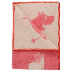 クリッパン KLIPPAN ミニブランケット Mini Blankets ムーミン Moomin ランニングムーミン ピンク KP111333【送料無料】|citron-g