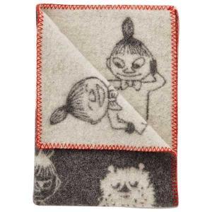 クリッパン KLIPPAN ミニブランケット Mini Blankets ムーミン Moomin ミイ & スティンキー ダークグレー KP111343【送料無料】|citron-g