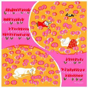 MOOMIN TRIBUTE WORKS ムーミン トリビュートワークス Handkerchief ハンカチ おひるね ピンク |citron-g