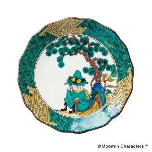 amabro アマブロ Moomin ムーミン JAPAN KUTANI -GOSAI- 九谷焼 小皿 Snufkin スナフキン 1211 citron-g