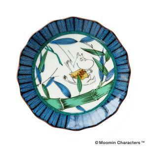 amabro アマブロ Moomin ムーミン JAPAN KUTANI -GOSAI- 九谷焼 小皿 Moomin ムーミン 1212 citron-g