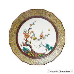 amabro アマブロ Moomin ムーミン JAPAN KUTANI -GOSAI- 九谷焼 小皿 Snork Maiden スノークのおじょうさん 1213 citron-g