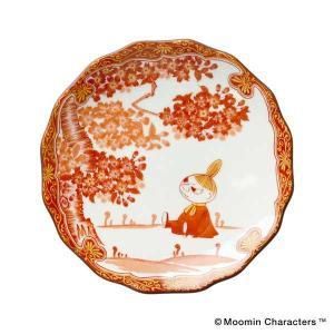 amabro アマブロ Moomin ムーミン JAPAN KUTANI -GOSAI- 九谷焼 小皿 Little My リトルミィ 1214 citron-g