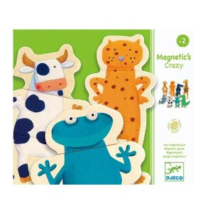 DJECO ジェコ Wooden Magetics 木製マグネット Crazy animals クレイジーアニマルズ DJ03111|citron-g