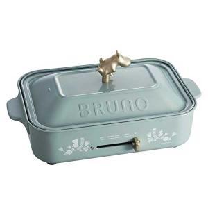 イデア idea ブルーノ MOOMIN×BRUNO ムーミンコンパクトホットプレート ブルーグリーン BOE059-BGR |citron-g