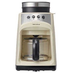 recolte レコルト Grind and Drip Coffee Maker グラインド アンド ドリップコーヒーメーカー FIKA フィーカ ホワイト RGD-1(W) 【送料無料】|citron-g