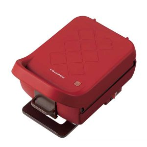 recolte レコルト Press Sand Maker Plaid プレスサンドメーカー プラッド RPS-2(R) レッド |citron-g