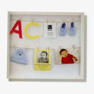 アンブラ umbra クロースライン シャドウボックス CLOTHESLINE SHADOW BOX ホワイト 2310080-660 【ラッピング不可】|citron-g