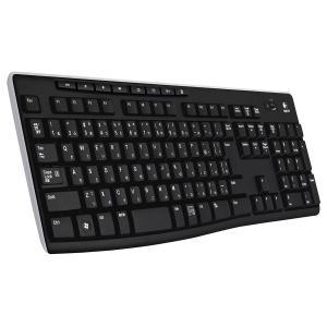 Logicool ロジクール フルサイズ 薄型 ワイヤレスキーボード テンキー付 耐水 静音設計 USB接続 3年間無償保証ボード Unifying対応レシーバー採用 K270 citrus-tie