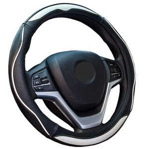 ZATOOTOハンドルカバー 軽自動車 普通車 兼用 ステアリングカバー 滑りにくい グリップ感抜群 おしゃれ PUレザー sサイズ LY124-W|citrus-tie