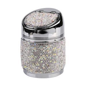 changchunST 車用灰皿 アッシュトレイ カーメイト 灰皿 携帯灰皿 カー用品 高級クリスタルダイヤモンド キラキラ シガー灰皿 citrus-tie