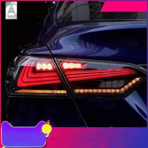 USEKA トヨタ カムリ 70系 テールランプ テールライト リアライト 全LED 流れる ウインカー スモーク 左右4点セット 日本語説明書つき新品 2018-UP年 LED FOR T|citrus-tie