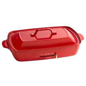 あすつく 特典グランデ用レシピ本&IKEAお皿×2 ブルーノ ホットプレート グランデ レッド 大型ホットプレート BRUNO BOE026-RD 赤 アヒージョ たこ焼き付き|citygas|03