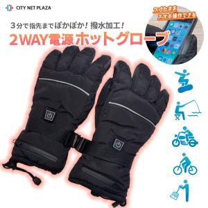 ヒートグローブ ホットグローブ 防寒手袋 M L 男女兼用 電熱グローブ (HTG) バイク スノーグローブ 雪かき 除雪 メンズ レディース