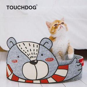 [TOUCHCAT] 猫 バリバリ丸ベッド (グレー)丸型爪とぎベッド 爪とぎ+ベッド両用式 爪とぎ取替え可能 日本正規代理店【送料無料】|civil-life