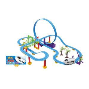 電動 電車 おもちゃ 乾電池 レール レールトイ 大回転 レールエクスプレス ロングコース ホワイト イエロー トレイン AH9771 組み立て式(送料無料)|ciz|03